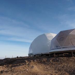 Con domos sustentables reconstruyen estación científica en pleno desierto de Atacama