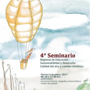 """Nueva fecha para el Seminario """"Calidad del aire y cambio climático"""""""